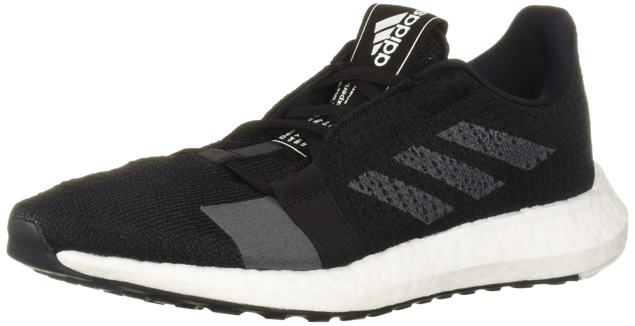 adidas Women's SenseBOOST GO Running Shoe, Black/Grey/White, 5 M US