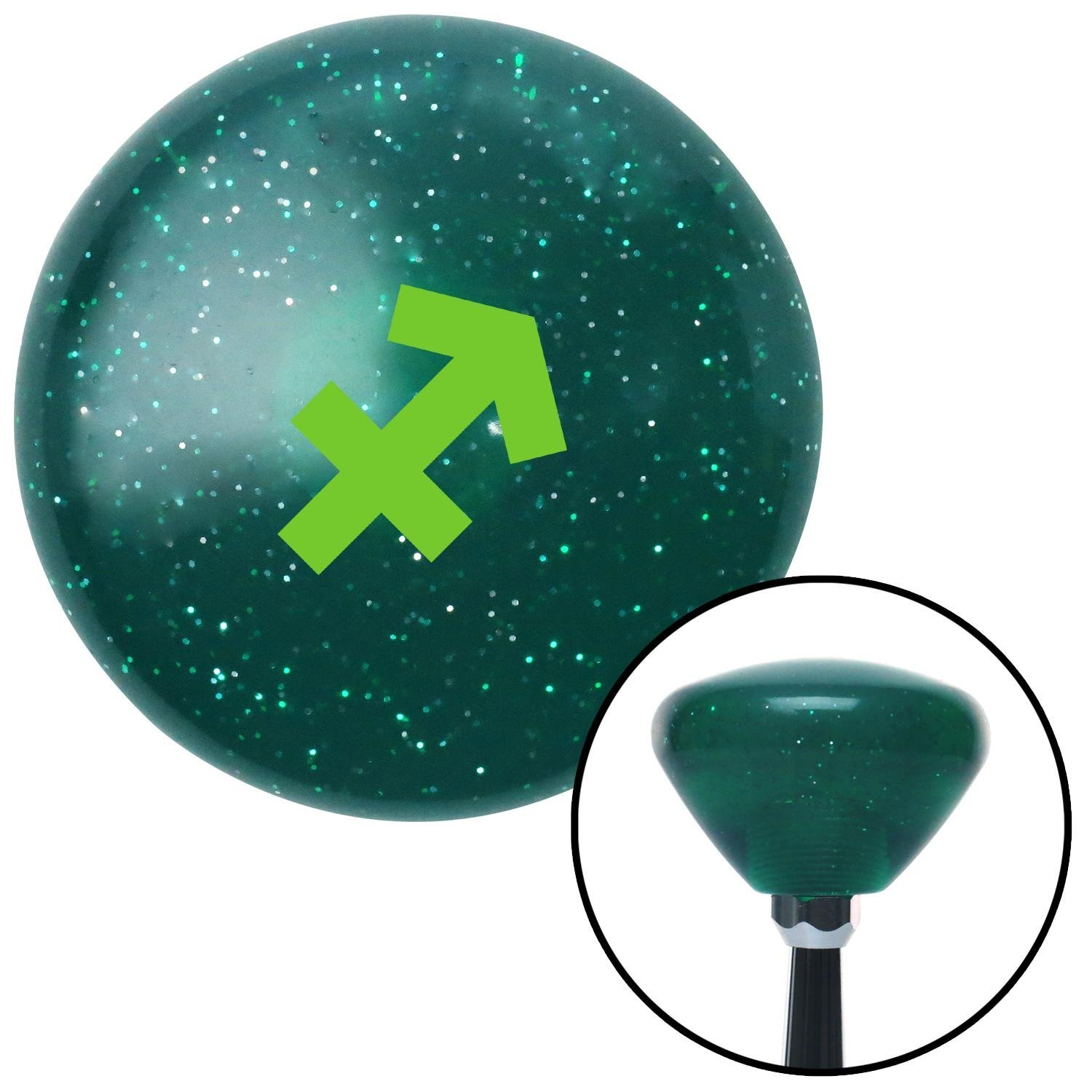 Green Sagitarius Green Retro Metal Flake with M16 x 1.5 Insert American Shifter 291930 Shift Knob