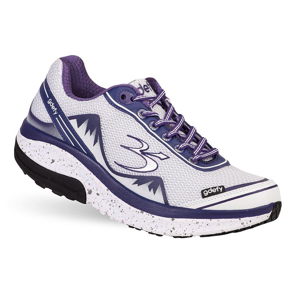 Gravity Defyer Proven Pain Relief Women's G-Defy Mighty Walk - Best Shoes for Heel Pain, Foot Pain, Plantar Fasciitis B079ZPLQ21 7.5 M US|White, Purple