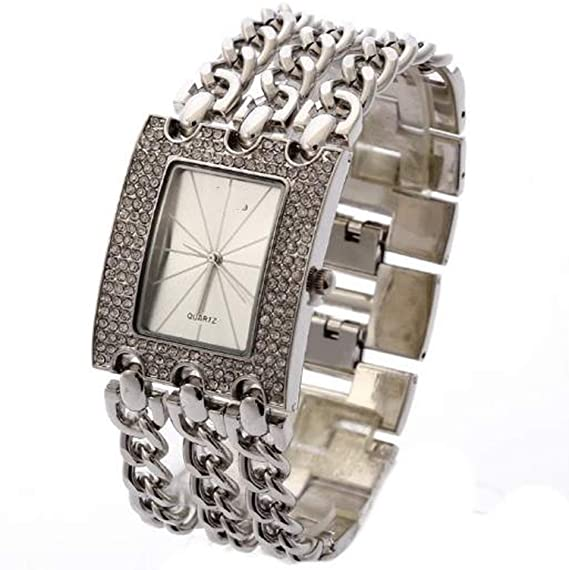Amazon.com: Luxury Women Wristwatches Quartz Watch Gold Relogio Feminino Dress Watch Relojes Mujer Lady Clock Gifts Jelly,Silver and White C: Cell Phones & ...