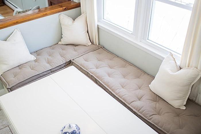 Wool Bench Cushion Fits Ikea Kallax Custom Sizes Shapes Fabrics