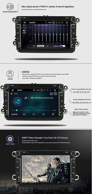 Amazon.com: Autosion Android 8.0 Octa Core 64 Bit iNand 32GB 4GB Car DVD Player GPS Stereo Head Unit Navi Radio Stereo WiFi for Hyundai Santa Fe ix45 2013 ...
