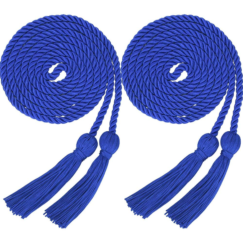 NewPinky 2 Pieces Graduation Cords Polyester Yarn Honor Cord with Tassel for Graduation Students