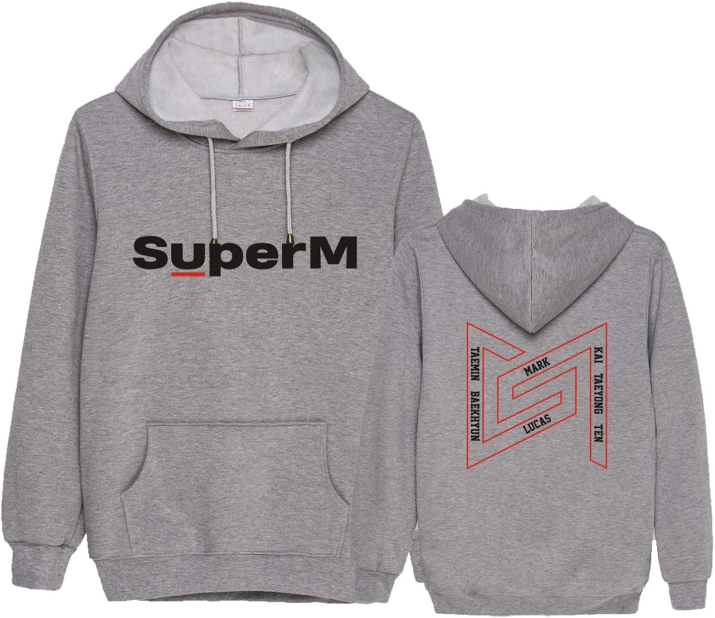 Dolpind Kpop SuperM Hoodie Baekhyun Taemin Taeyong Kai Ten Mark Lucas Sweatshirt Merchandise