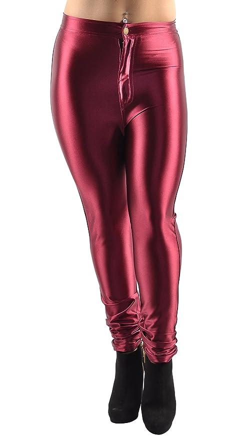 5c2b990039d53 Amazon.com  BadAssLeggings Women s Shiny Disco Pants Medium Maroon  Clothing