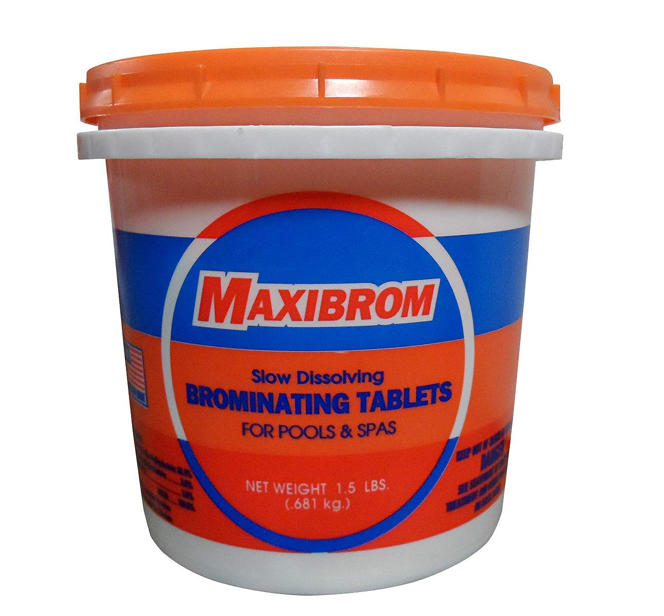 Maxibrom Disinfectant Sanitizing Slow Dissolving Mini Bromine Tablets Hot Tubs & Spas 1.5 LB Bucket - 5109