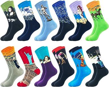 Belloxis - Calcetines para hombre (9-11, divertidos, divertidos y divertidos, regalos para hombres Art Socks-a 43-46: Amazon.es: Ropa y accesorios