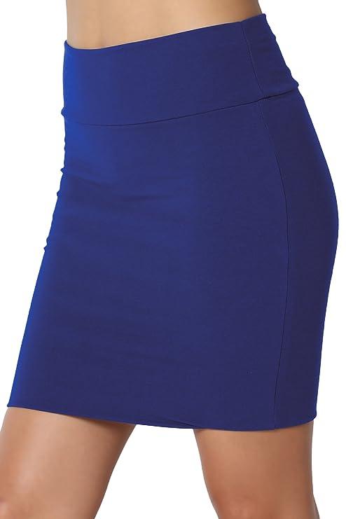 TheMogan minifalda tubo básica de mujer de algodón elastizada con plieguehttps://amzn.to/2DIXniv