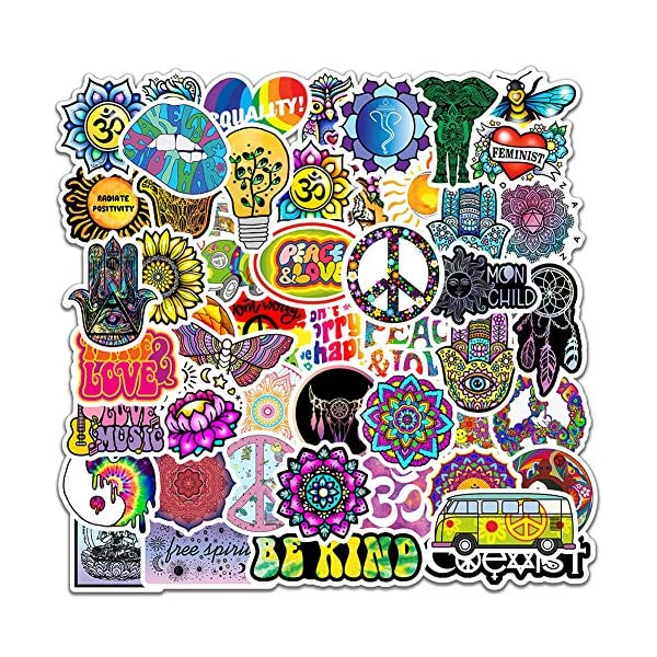 50PCS-Peace-Love-Hippie-Stickers-for-Water-BottleWaterproof-Vinyl-Stickers-for-Laptop-Hydroflask-Phone-MacBook