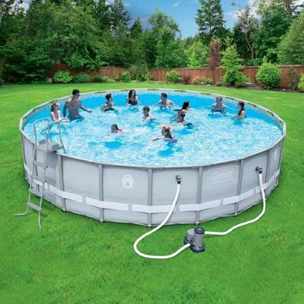 Coleman 22 X52 Power Steel Frame Above Ground Swimming Pool Set Garden Outdoor
