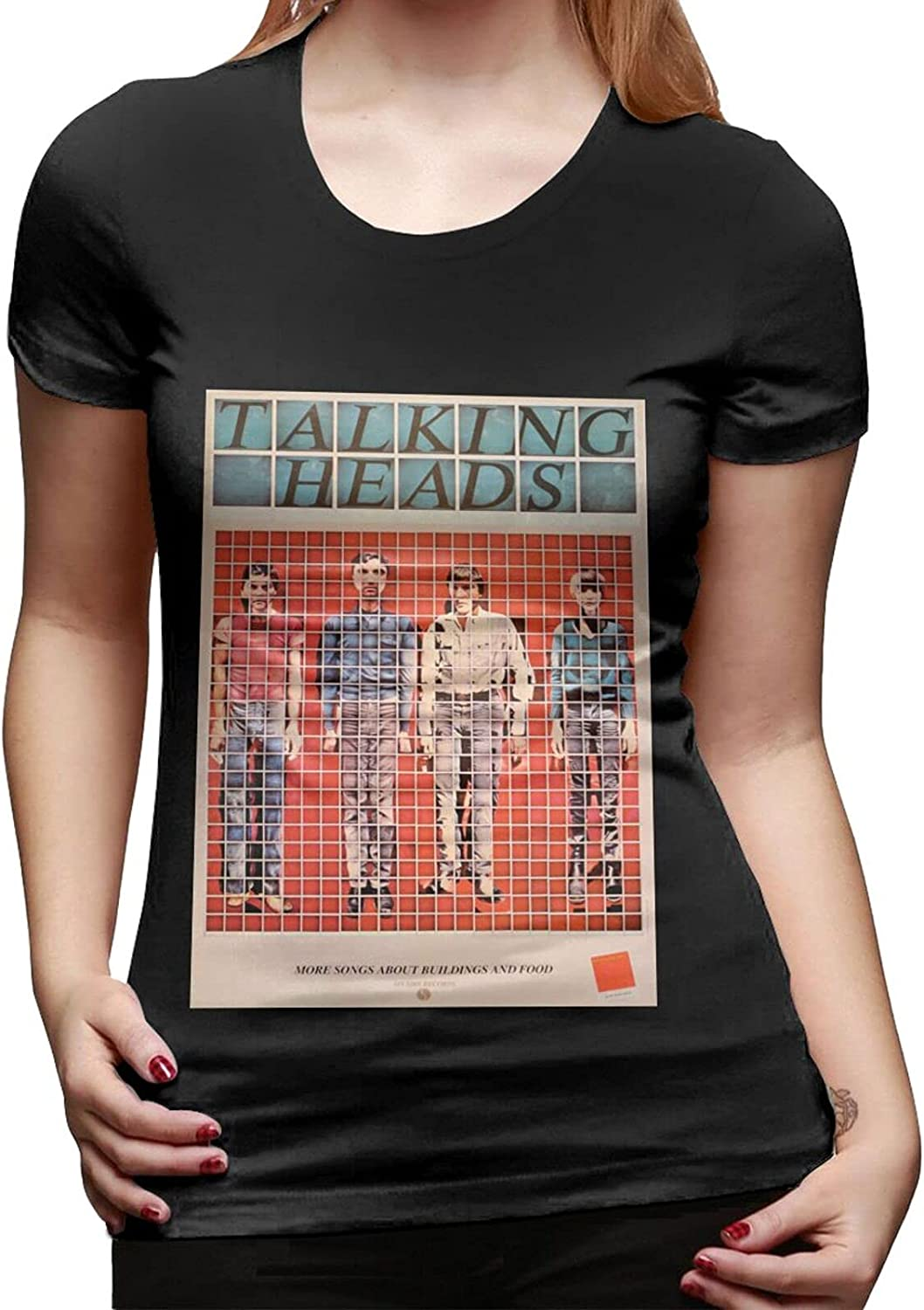 Talking Heads More Songs About Buildings and Food T Shirt Female Basic Short Sleeve T-Shirt Round Neck Tops