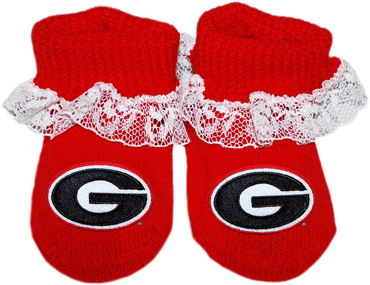 University of Georgia Lace Booties