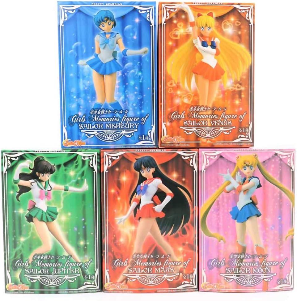 lunanana Sailor Moon Figure 16-18cm Hino Rei Kino Makoto Mizuno Ami Sailor Venus PVC Figure//Vinyl Figure//Collectible for Anime Lovers