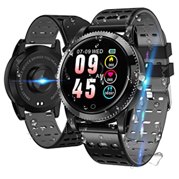 Smartwatch Smart Armband blutdruck uhr mit herzfrequenz wasserdicht Fitness Tracker aktivitätstracker gps bluetooth Sports Wa