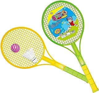 Sowofa 49,5cm inch Terrain de Jeux pour enfants Sports Toys Ensemble de tennis de badminton pour enfants avec 2raquettes, balle et Birdie