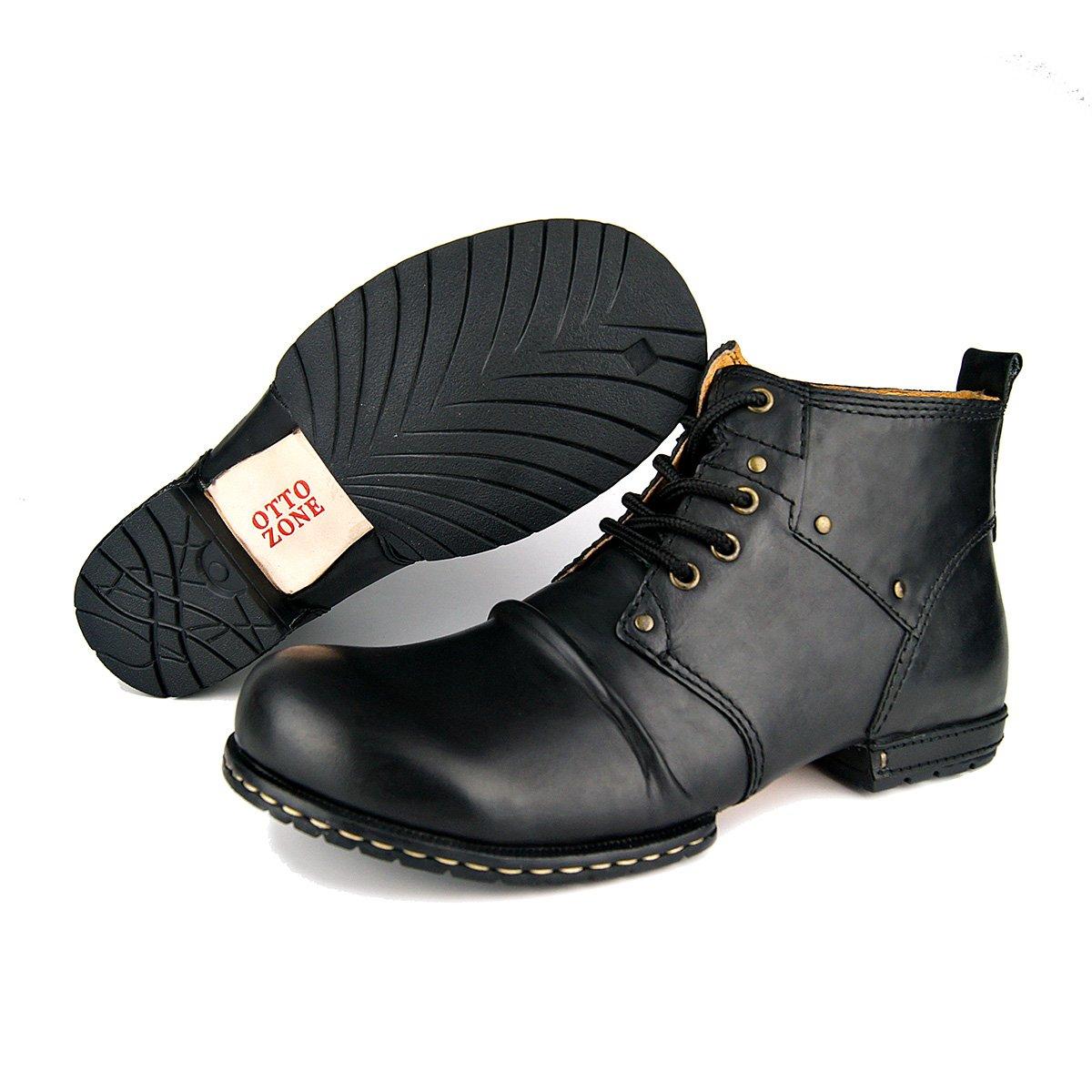 Zapatos house Cuero Cuero Cuero Vestido Tobillo Botas Motocicleta Botas Hombres Occidentales Trabajo Combate Botas,A,US8.5=EU42 62e339