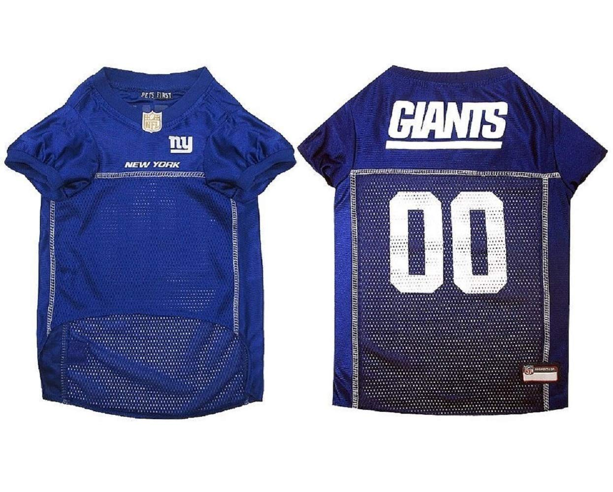 size 40 3da05 ddb70 Pets First NEW YORK GIANTS Dog Jersey Licensed NFL