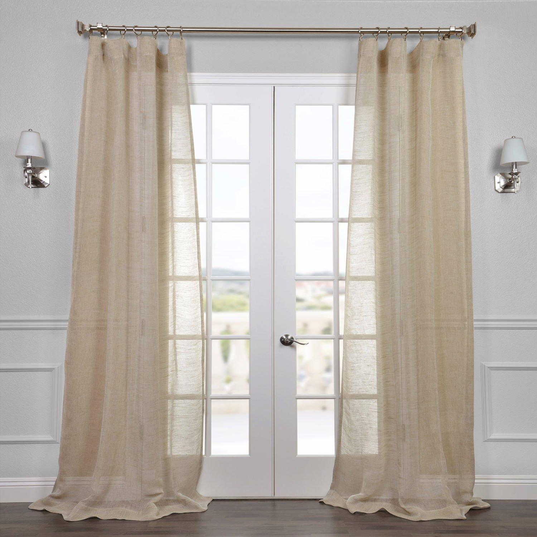 Sheer Linen Curtains: Amazon.com