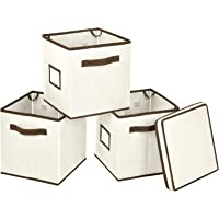 3-Pk. Foldable Storage Bins with Label Holders