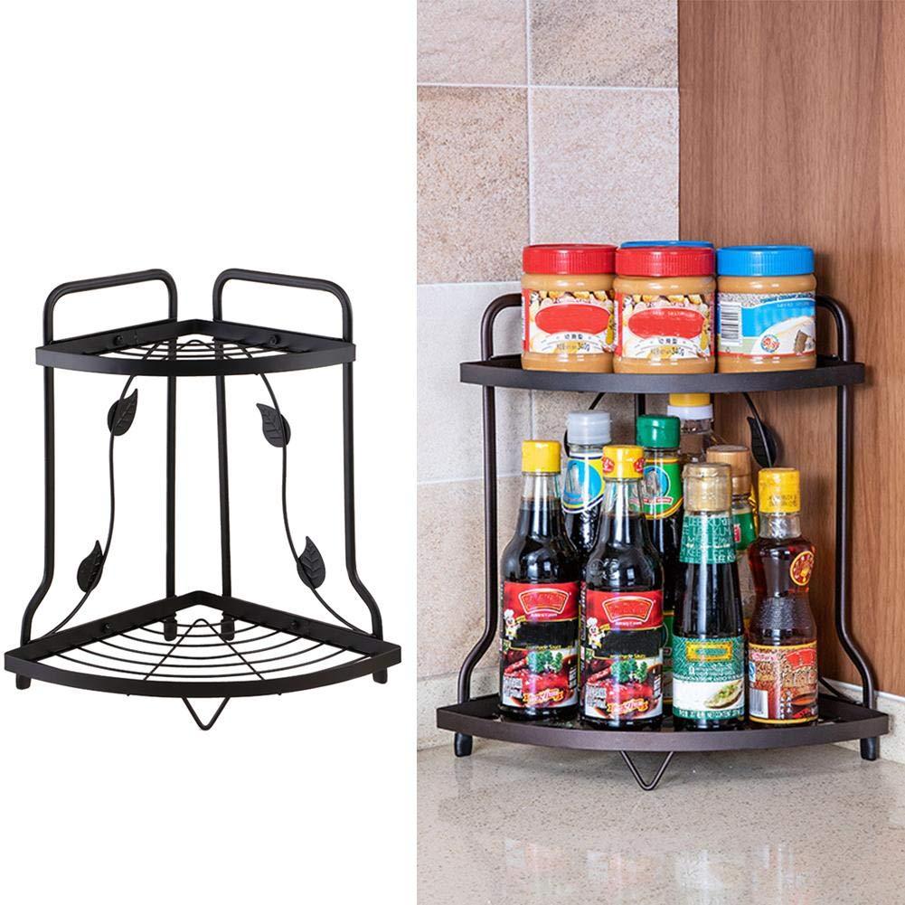 1717 Iron Corner Shelf Kitchen Supplies Storage Rack