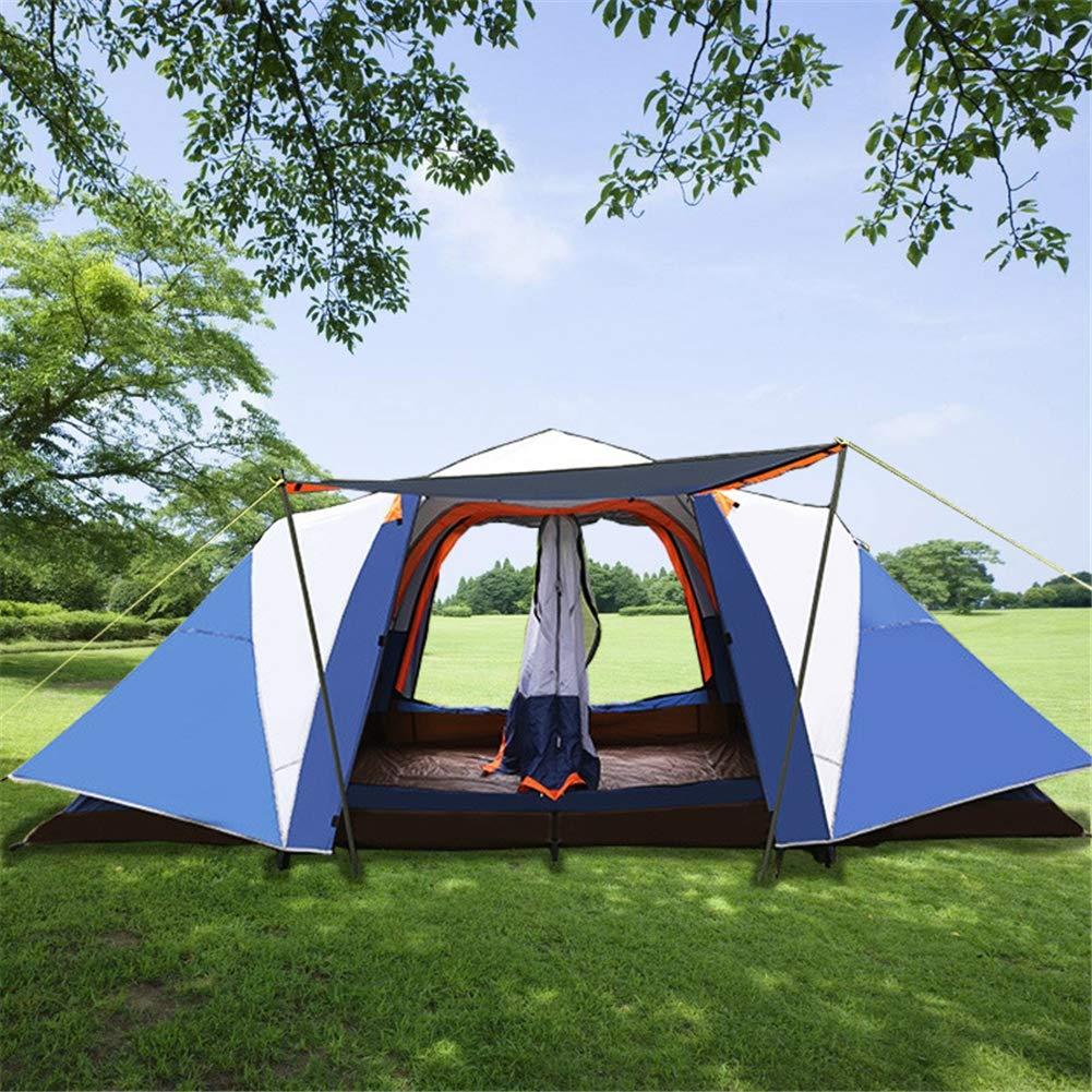 Spacious,Anti-UVZelt, 8-10 Personen Zwei Zimmer und EIN Wohnzimmer Familie und Party Camping Zelte Doppel-Layer Wasserdicht Zelt mit Sewn in Groundsheet,1,410  210  155