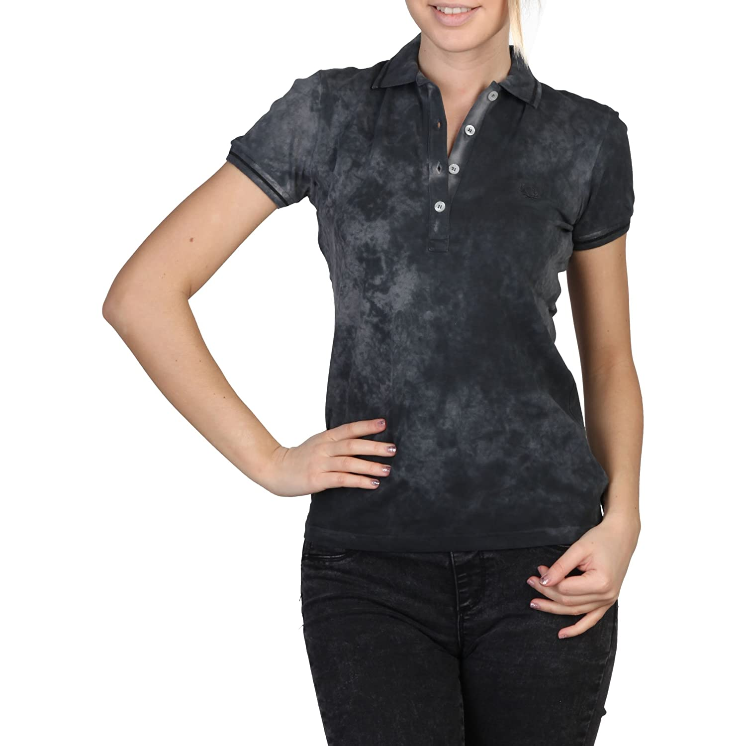 Fred Perry - Polo - mujer - Polo Fred Perry 31162239 0031 negro ...
