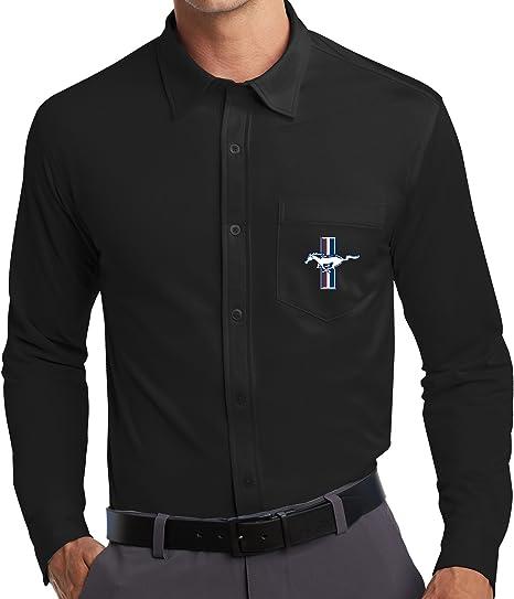 Buy Cool Shirts Mens Ford Mustang GT Pocket Knit Dress Shirt