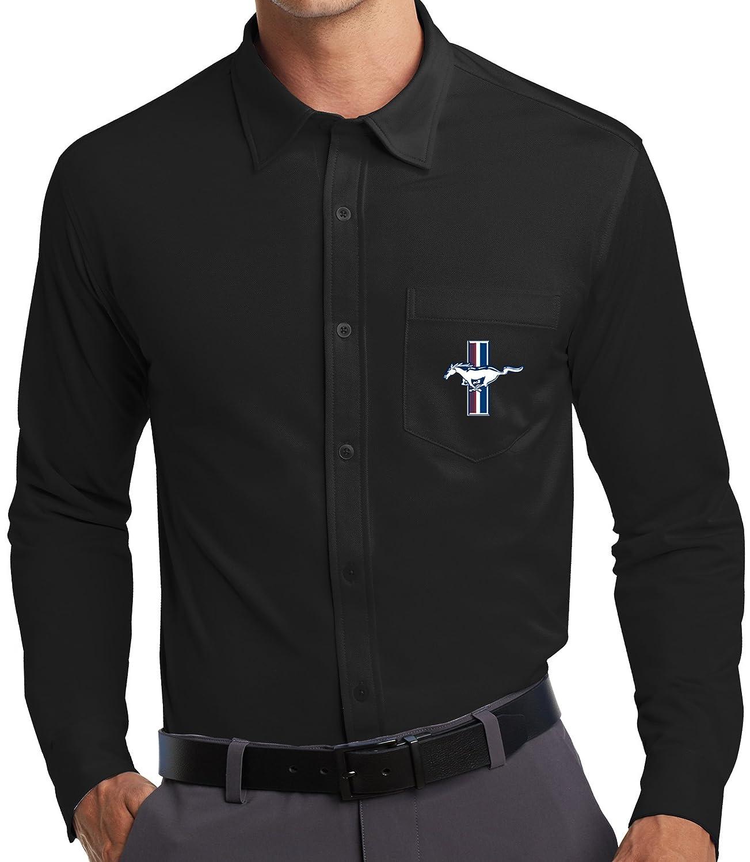 Buy Cool Shirts Mens Ford Mustang Gt Pocket Knit Dress Shirt At