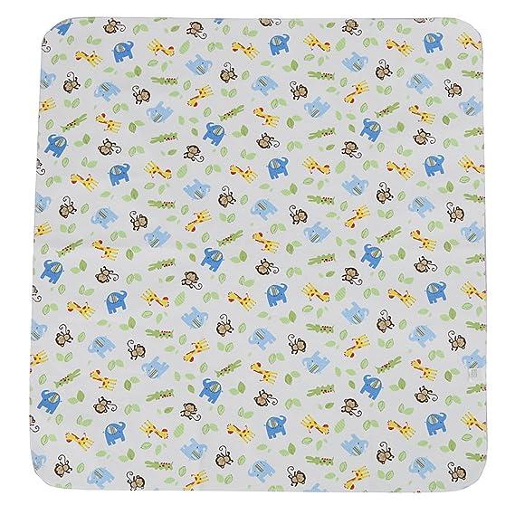 Sharplace Tela Almohadilla de Diarrea Multicolor de Bambú Fibra Cambia Pañal Limpiar para Bebés - 1x White Zoo: Amazon.es: Bebé