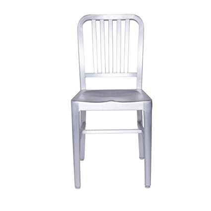 Euro Style Cafe Slat Back Side Chair in Matte Aluminum Set of 2  sc 1 st  Amazon.com & Amazon.com : Euro Style Cafe Slat Back Side Chair in Matte Aluminum ...