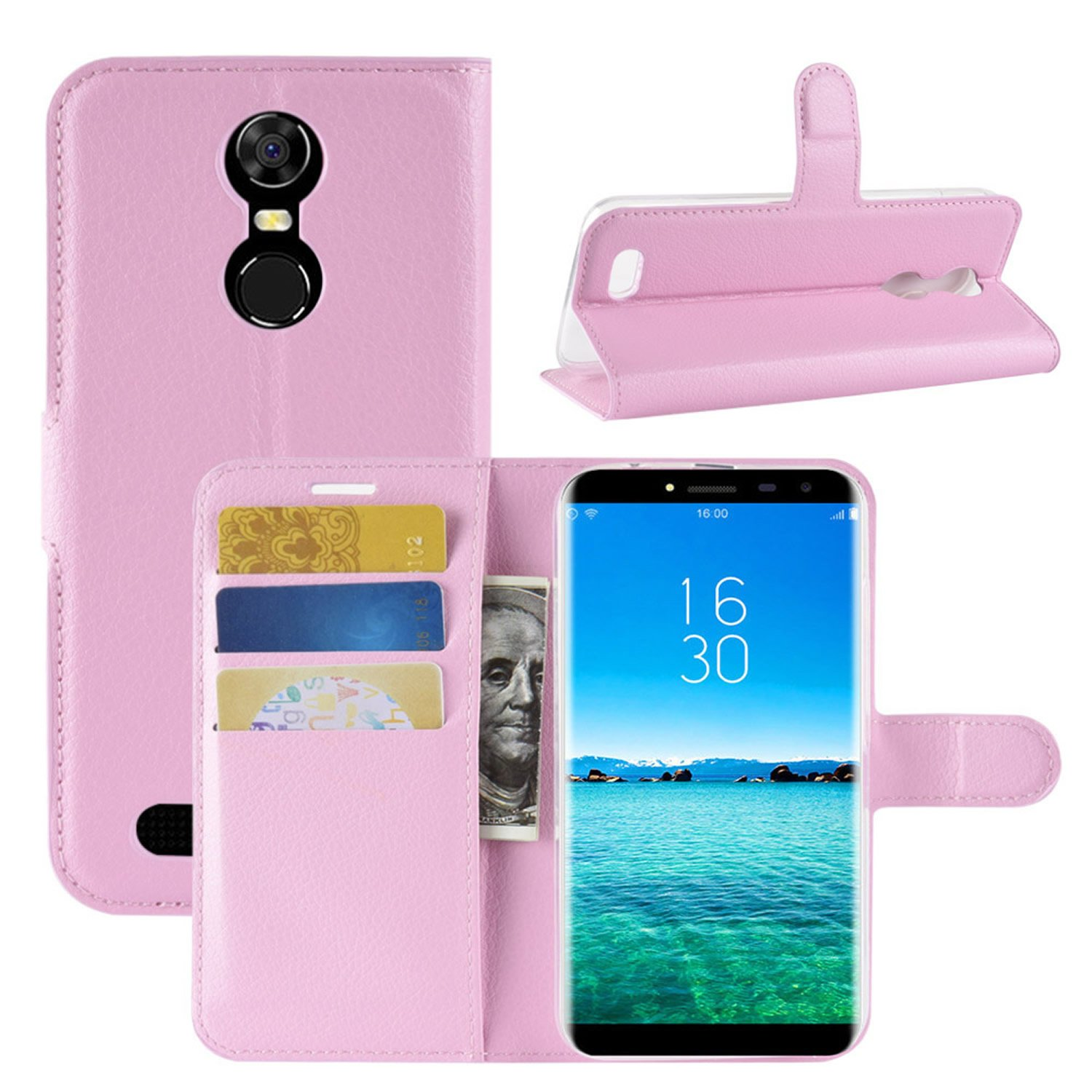 HualuBro Funda Oukitel C8, Premium PU Cuero Leather Billetera ...