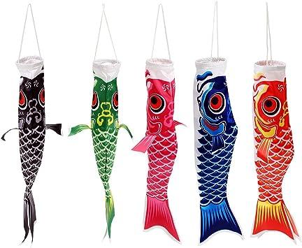Red 55cm Koi Nobori Japanese Style Carp Wind Sock Koinobori Fish Flag Kite