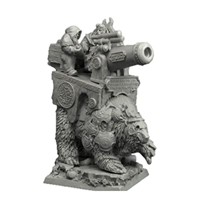 Scibor 28mm/30mm Dwarven Cannon on War Bear: Toys & Games