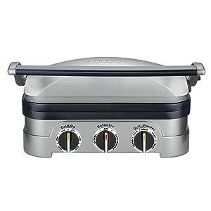 Cuisinart 5-in-1 Gourmet Griddle Griddler Panini Press GRID-8NSA