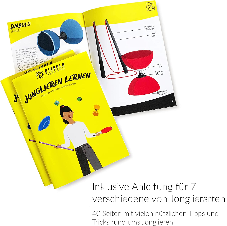 1-Lager Diabolo Jonglieren Jonglagespielspielzeug für Profis und Anfänger