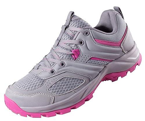 6aa4cab7bc7 CAMEL CROWN Zapatillas de Senderismo para Mujer Antideslizantes Zapatillas  de Trekking Montaña Transpirables Zapatillas de Seguridad Zapatos de  Trabajo AL ...