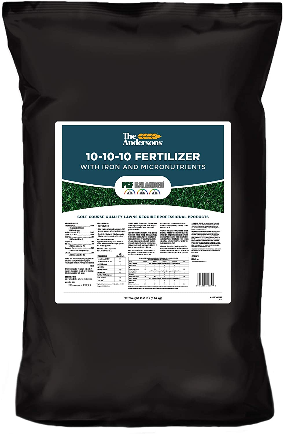The Andersons PGF Balanced 10-10-10 Fertilizer with Micronutrients and 2% Iron (5,000 sq ft)
