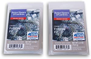 Better Homes and Gardens Holiday Themed Scented Wax Cubes Bundle - Crisp Frosted Fir