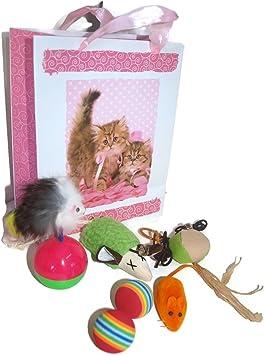 Juguetes Para Gatos 6 Piezas En Bolsa de Regalo Set Paquete Conjunto: Amazon.es: Juguetes y juegos