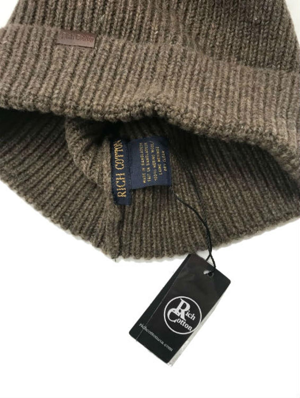 Rich Cotton Beanie Hat 100/% Merino Wool Daily Soft Hat Knit Men Women Plain Cuff Rollup Street Style Fisherman Cap