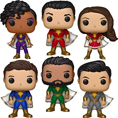 "Funko Pop! Heroes: Shazam! Collectible Vinyl Figures, 3.75"" (Set of 6): Toys & Games"