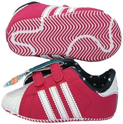 klassische Stile verschiedene Arten von detaillierte Bilder adidas SUPERSTAR 2 CRIB pink/weiß Krabbelschuhe Babyschuhe ...