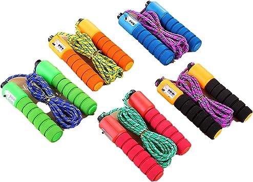 Cuerda de saltar de 2,5 m de algodón con esponja, para ejercitar y ...