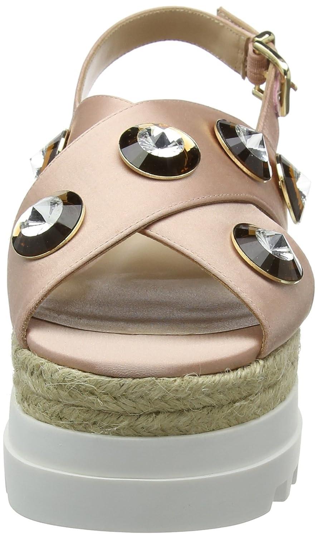 Liu Jo Jo Jo Jeans Crisscross Platform Sandals Pavone  rosa - 41310 ca06b1