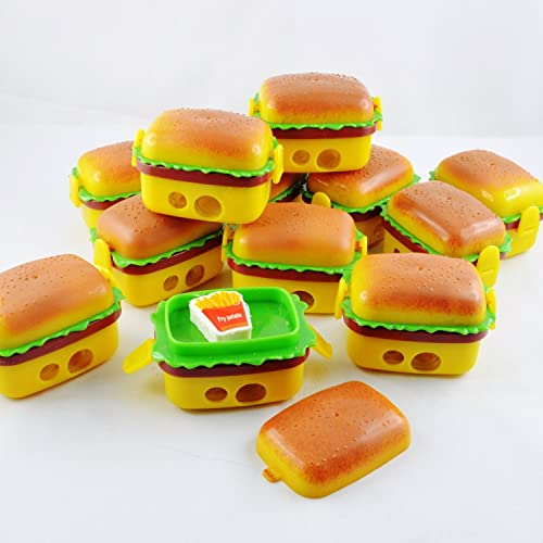 Jiada Burger Style Sharpener Eraser For Birthday Party Return Gift Pack Of 12
