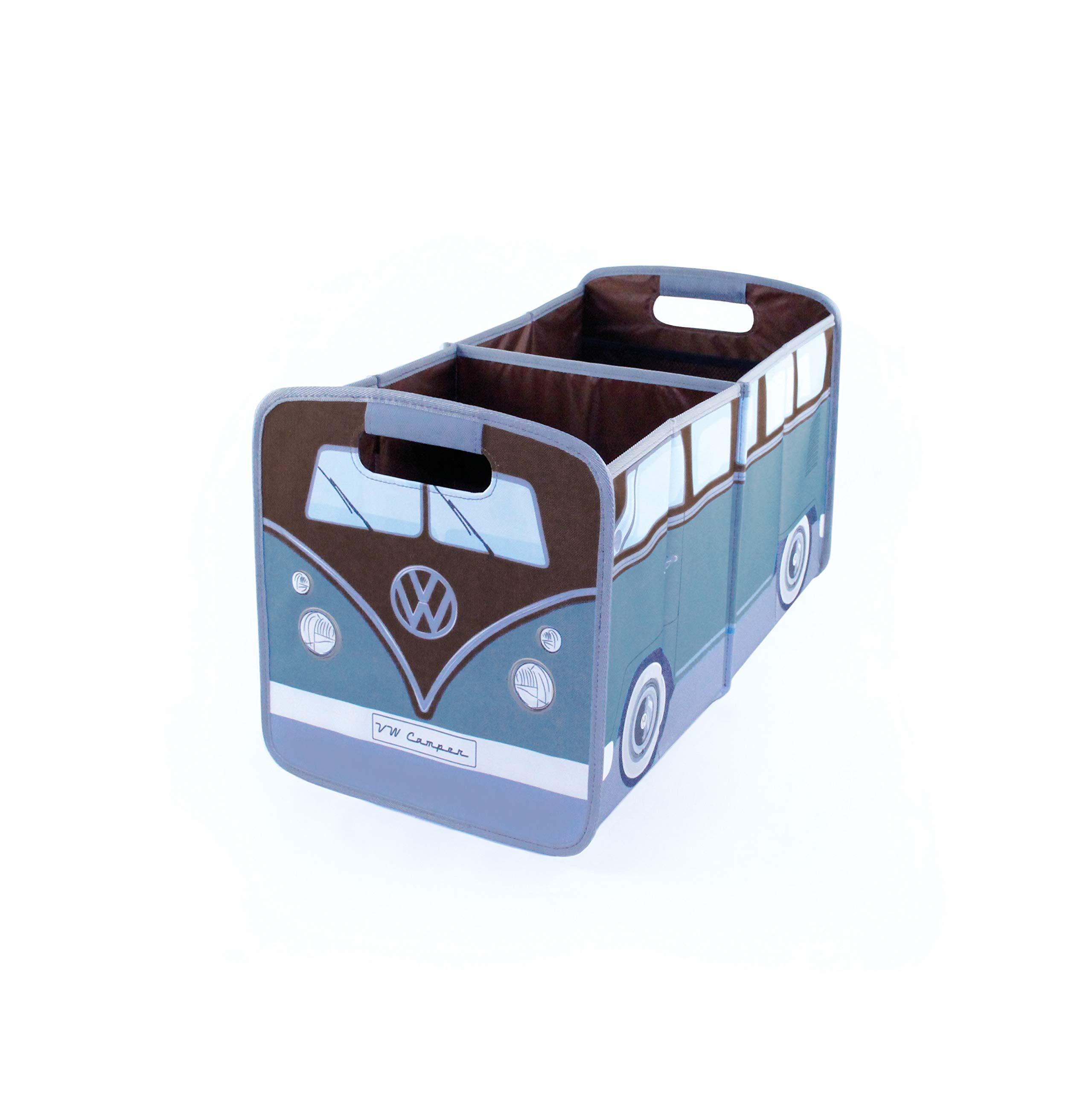 BRISA VW Collection VW T1 Bus Foldable Storage Box - Petrol/Brown