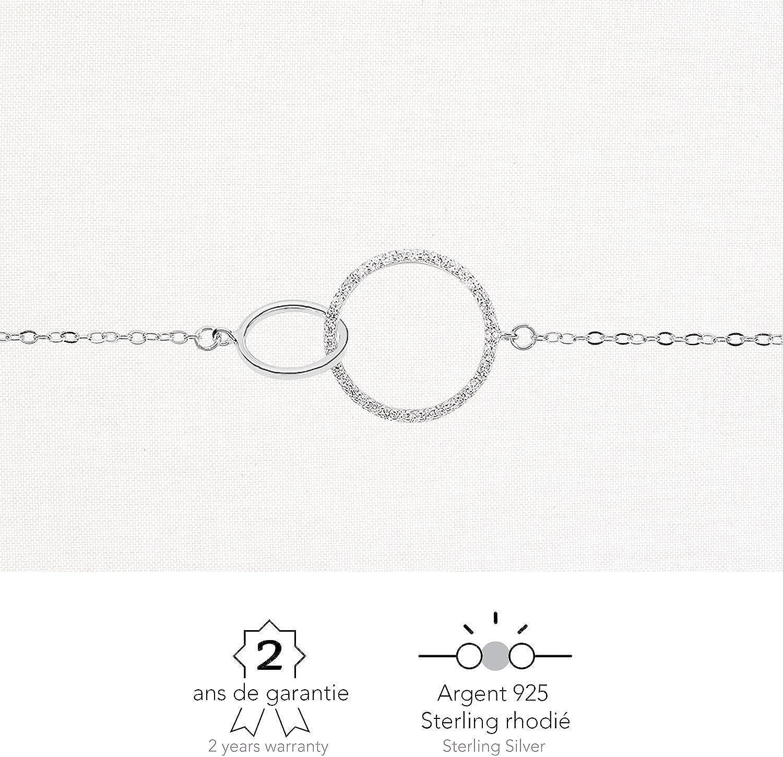 Id/ée Cadeau Printemps Argent 925 Sterling//Massif Bijou Femme Zirconiums Rendez-vous RueParadis Paris Bracelets Cha/îne