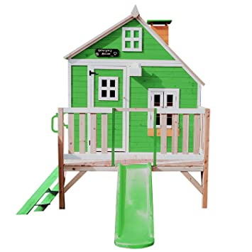 Garden Games Whacky Tower Wooden Playhouse Painted Play House H 239cm X W 244 X D 179 Cm