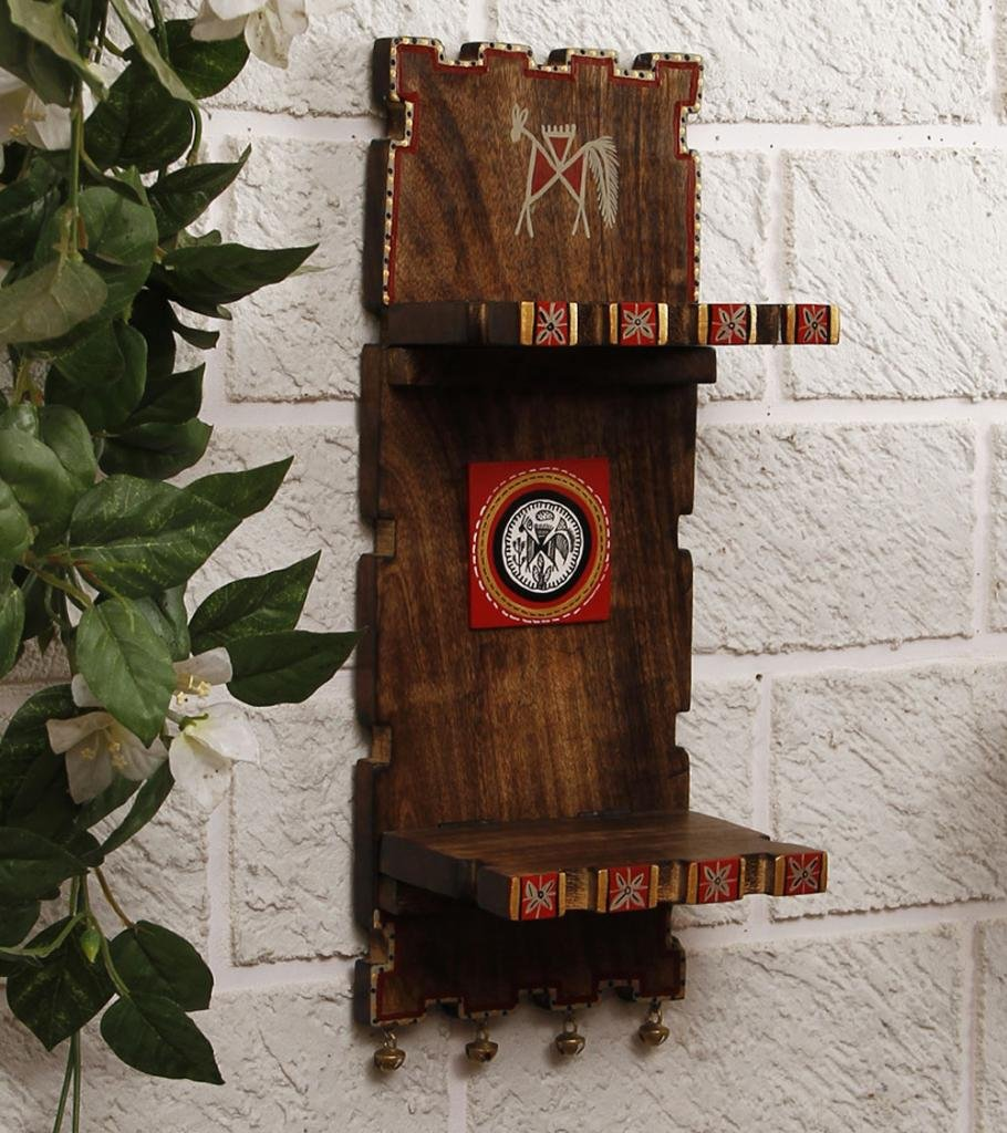 Unravel India Warli Painted Sheesham Wood 2 Flap Wall Frame