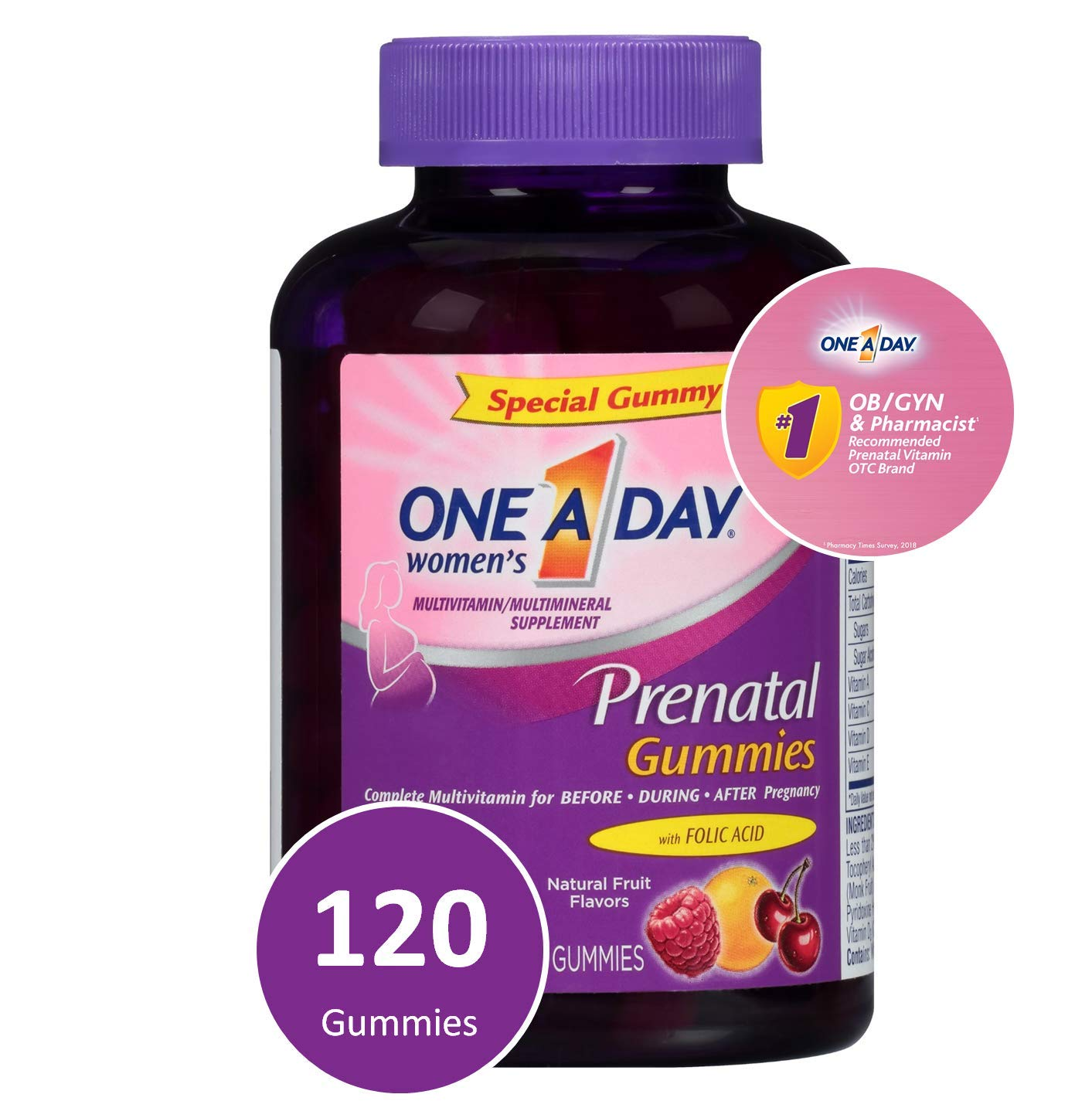 Top Prenatal Vitamins >> One A Day Women S Prenatal Multivitamin Gummies Supplement For Before And During Pregnancy Including Vitamins A C D E B6 B12 And Folic Acid